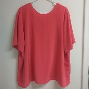 Tops - Coral tunic blouse